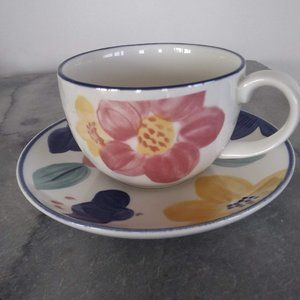 Johnson Brothers Marie Cup & Saucer Vintage 1990s